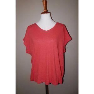White House Black Market Large Orange Knit Linen